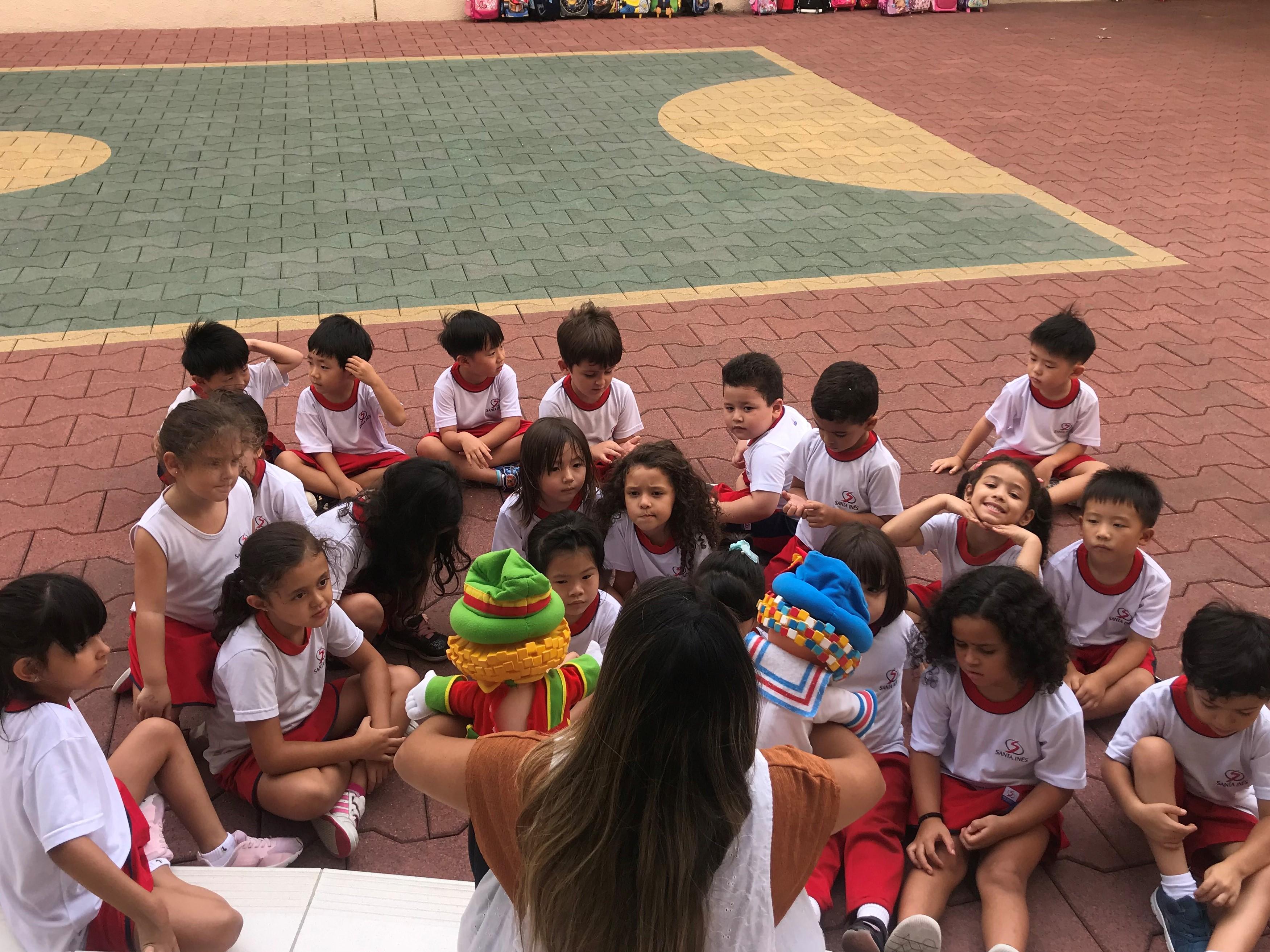 Turma do Infantil 3 tem aula sobre sequência numérica e alfabeto