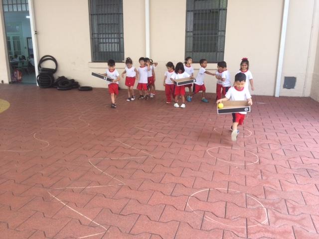 Circuito desenvolve equilíbrio e coordenação dos alunos